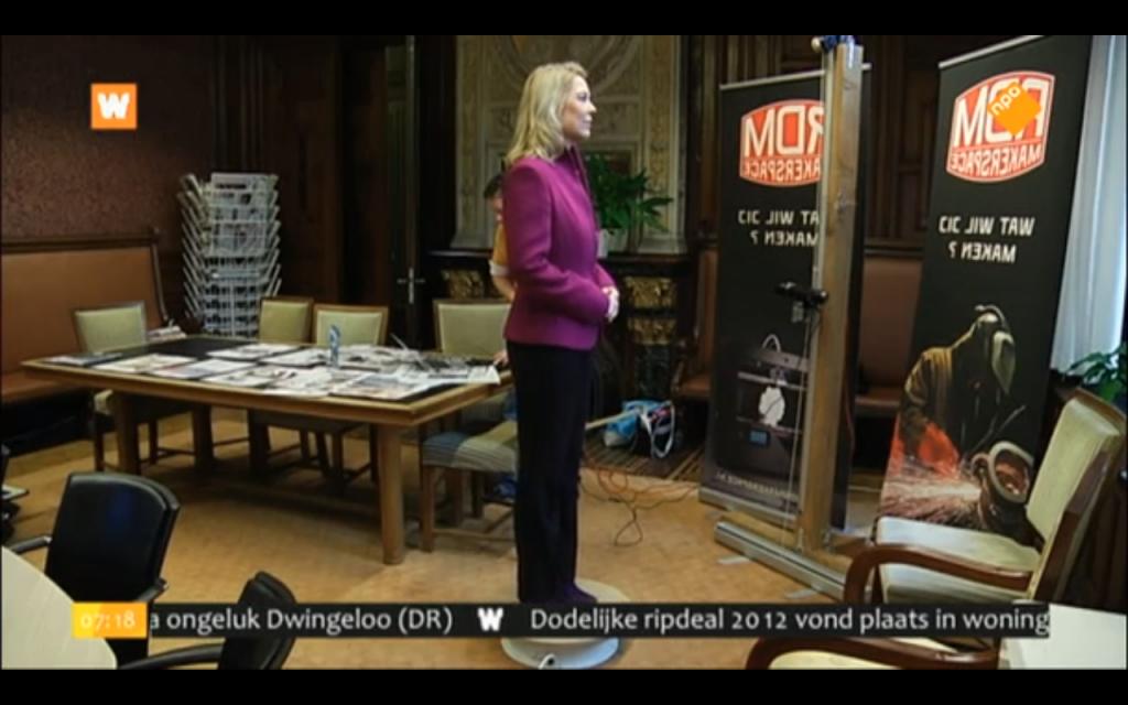 Madeleine van Toorenburg wordt het eerste 3D gescande en uitgeprinte kamerlid